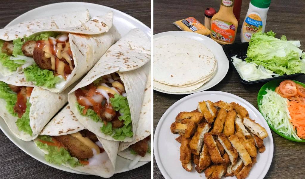 Resepi Tortilla Chicken Wrap Yang Mudah Disediakan