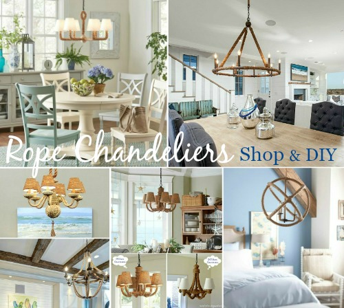 Rope Chandeliers Shop and DIY