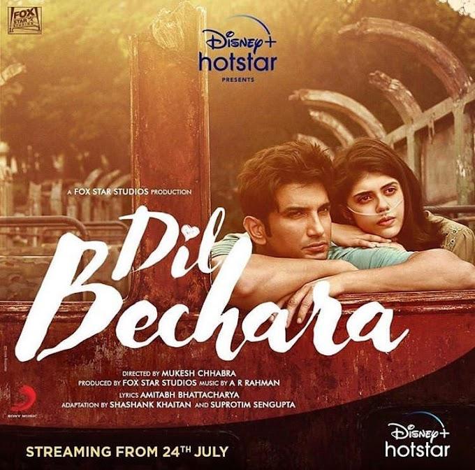 Dil Bechara – Title Track   Sushant Singh Rajput   Sanjana Sanghi   A.R. Rahman   Mukesh