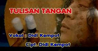 Lirik Lagu Tulisan Tangan - Didi Kempot