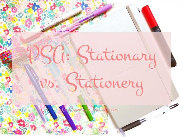 PSA: Stationary vs. Stationery