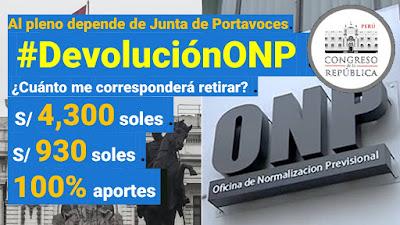 #DevoluciónONP en manos de Junta de Portavoces ¿Que dice el dictamen a debatir?