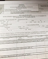 Declaratie Fiscala Taxe si Impozite