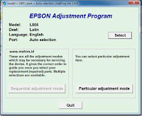 Epson l805 Resetter Service Required