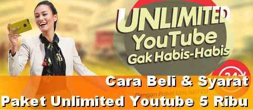 Syarat dan cara beli Paket Unlimited Youtube Indosat