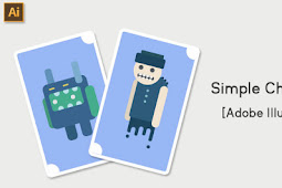 Kurang dari 10 menit membuat karakter  simpel di Adobe Illustrator