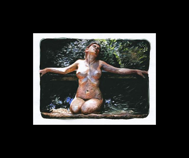 René Bui - Etude de nu à l'aquarelle n°170191