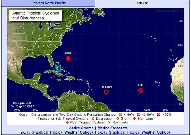 Se forma tormenta tropical Lee en el Atlántico