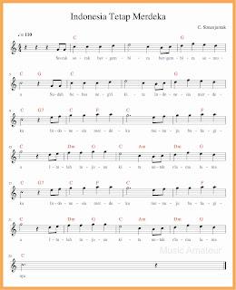 not balok lagu indonesia tetap merdeka lagu wajib