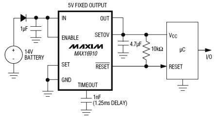 MAX16910 Datasheet, 200mA Linear