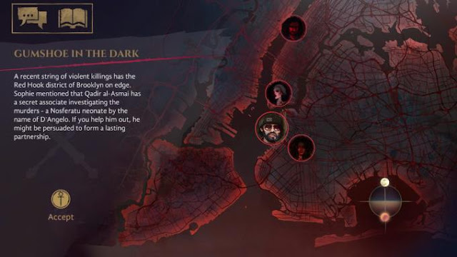 A game Vampire The Masquerade Coteries of New York for PC is dedicated to the difficult events that unfolded on the streets of New York.