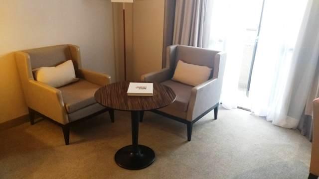 Sala de estar do quarto do Hotel Intercontinental São Paulo