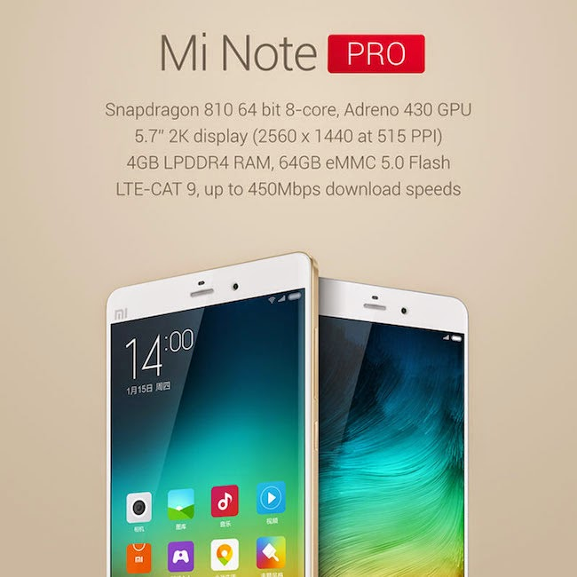 And Here is Mi Note PRO specifications