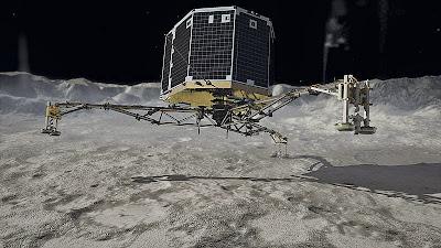 Gambaran dari Philae yang mendarat di komet