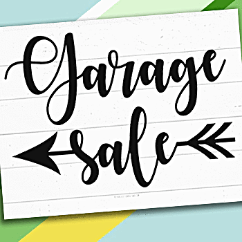 image about Printable Yard Sale Signs called Cost-free Printable Garden Sale Signs or symptoms and Garage Sale Printables