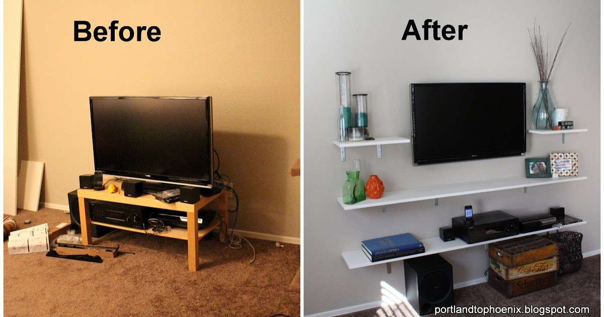 Pdx To Phx Diy Tv Shelves