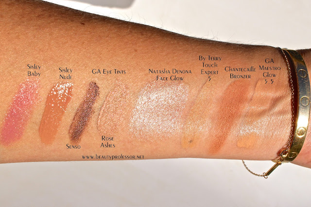 giorgio armani maestro glow foundation swatches 5.5