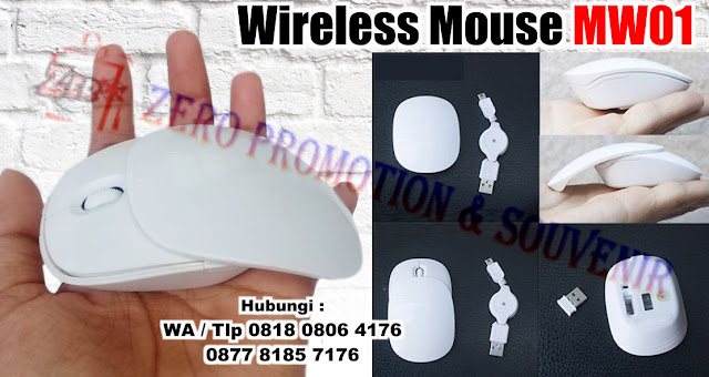 souvenir mouse wireless model Wireless Mouse Glossy White Sliding MW01, Ergonomic mouse dengan cover yang bisa digeser, slideable mouse MW01, Mouse Wireless Promosi Kode MW01