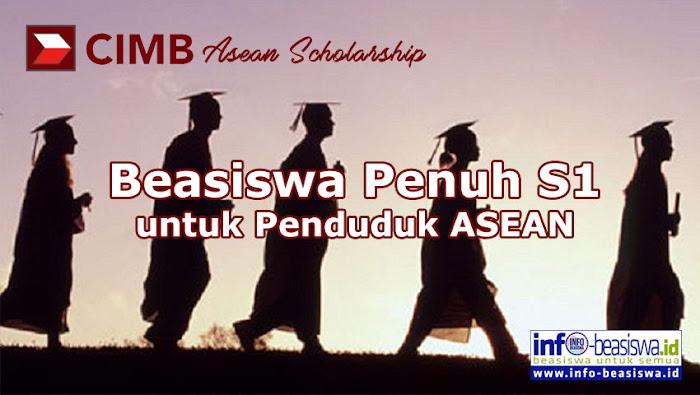 CIMB Asean Scholarship: Beasiswa Penuh S1