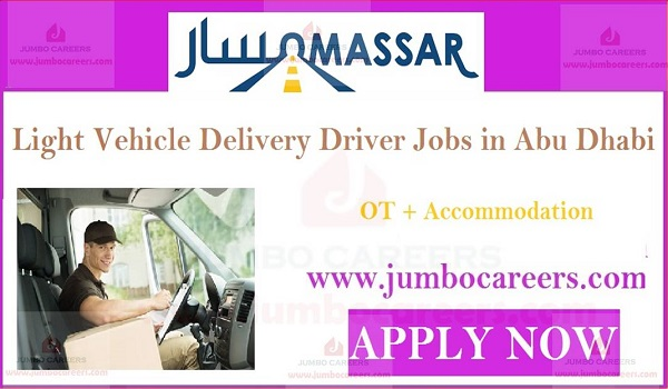 Abu Dhabi driver walk in interview jobs, Accommodation jobs in UAE,