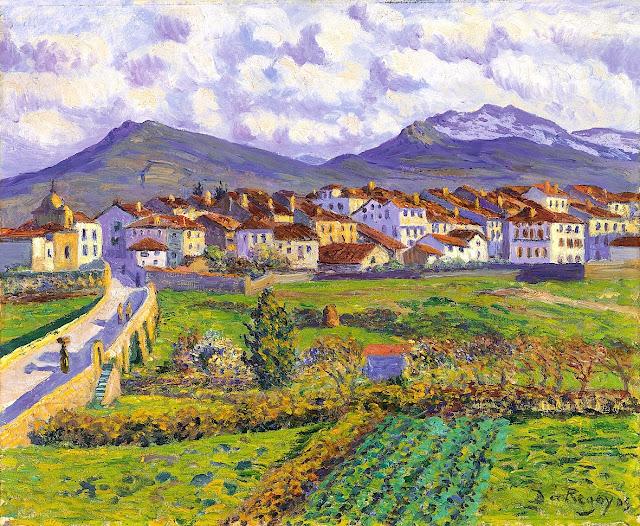 1900. Dario de Regoyos - Landscape at Hernani