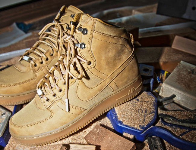 c962525c78f Only Happy Times  Nike Air Force 1 Hi Boot – XXX Anniversary – Wheat ...