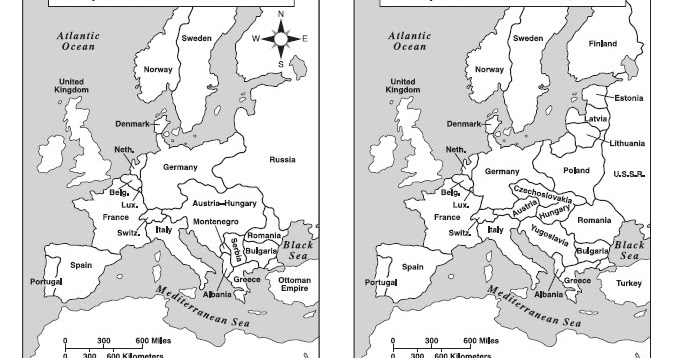 Histoire go map of europe before and after the iww gumiabroncs Gallery