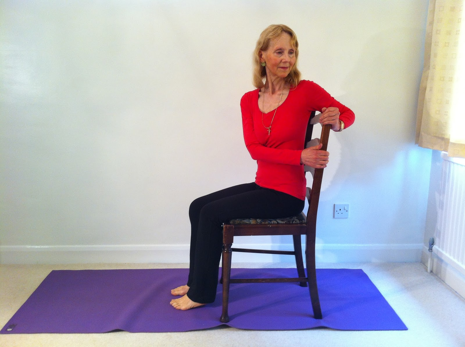 seated chair yoga poses for seniors marine captain chairs flexiladies upper back pain