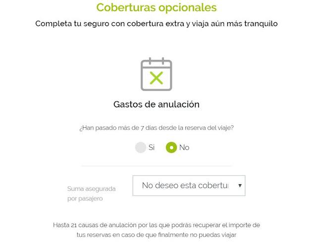 Seguro de cancelación de viaje por Coronavirus