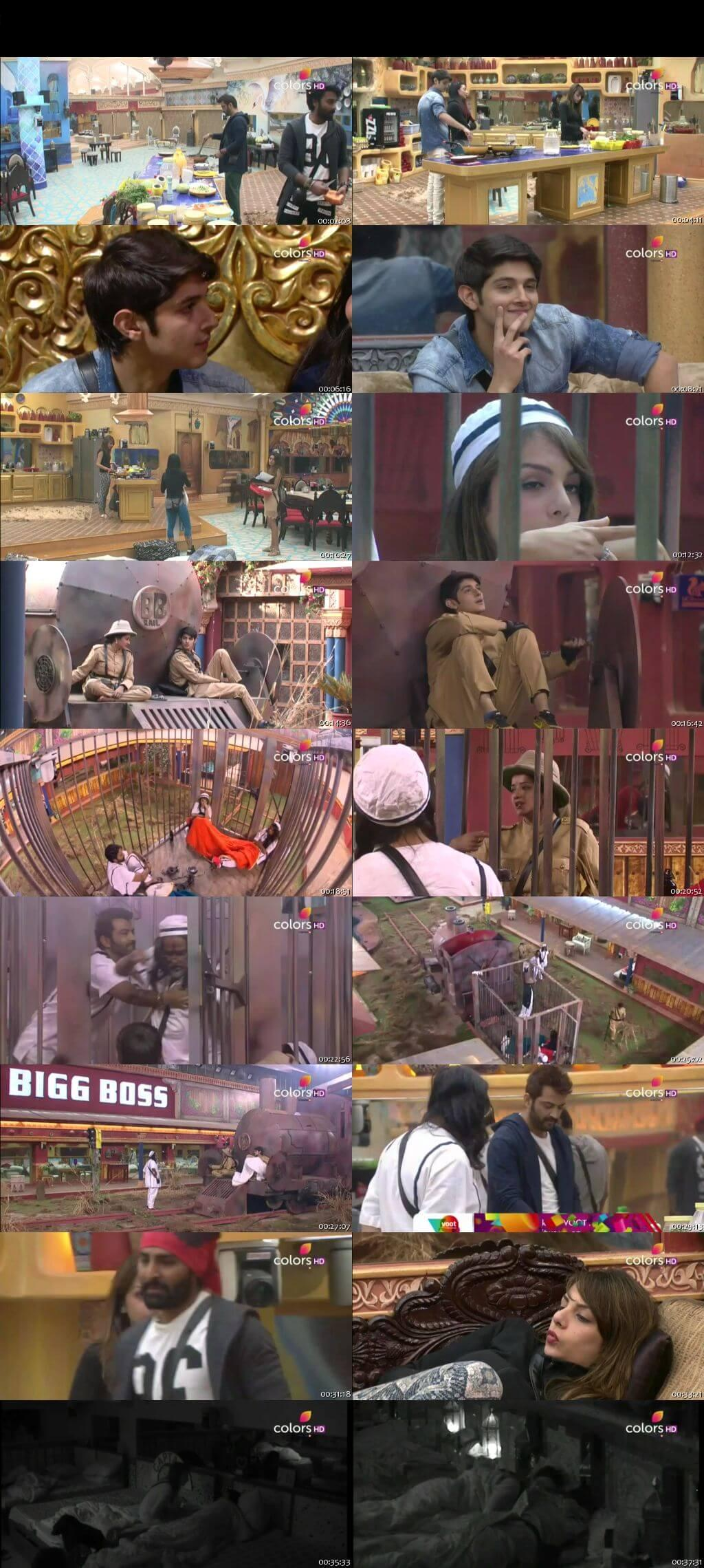 Screenshots Of Hindi Show Bigg Boss 10 3rd January 2017 Episode 80 300MB 480P HD