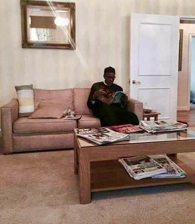 First Photos of President Muhammadu Buhari 2nd Medical Vacation Surfaces Online