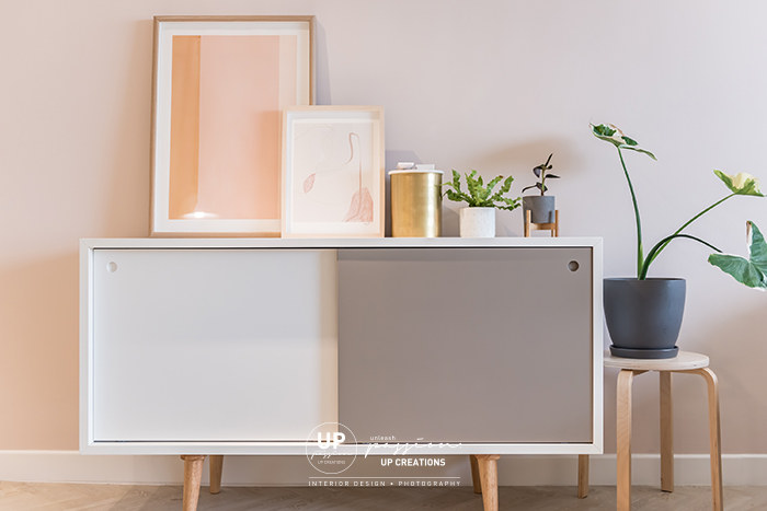Mont Kiara Pines condo simple console for decor and plants