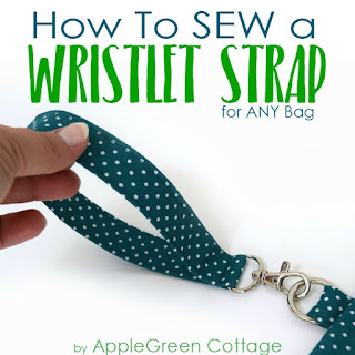 how to sew a wristlet strap - easy beginner sewing tutorial