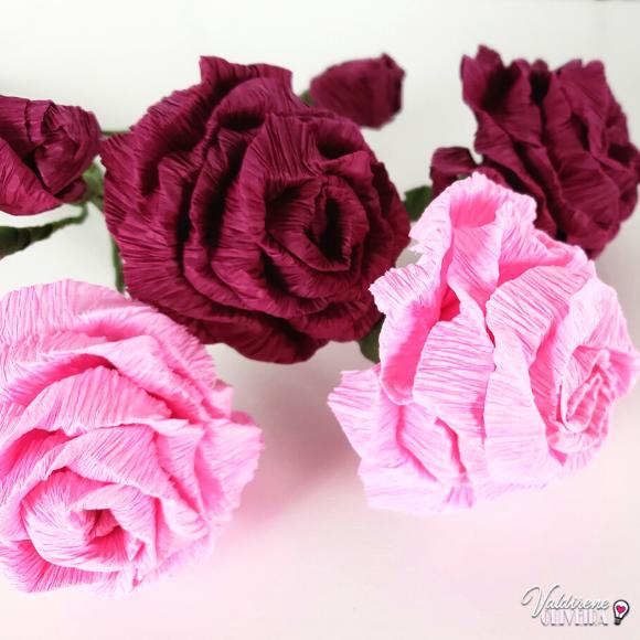 Diy - rosa de papel