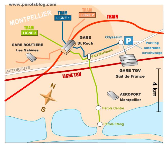 TGV à Pérols