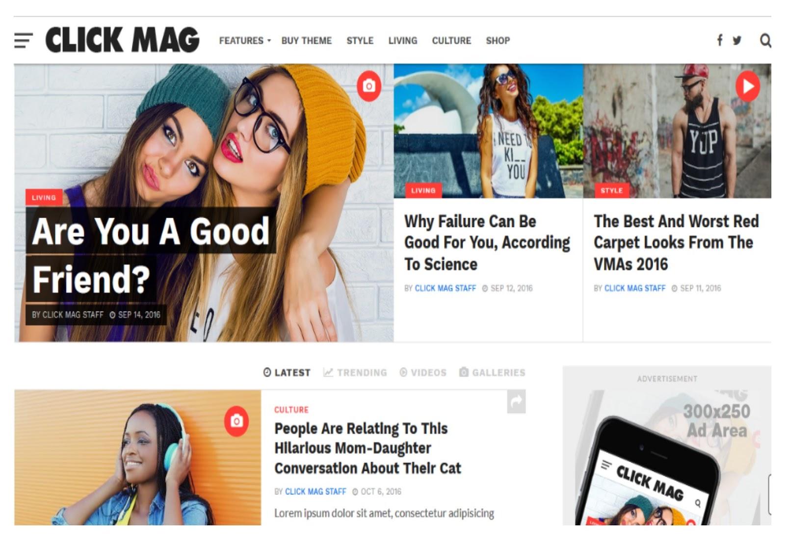 Click Mag Viral WordPress Theme