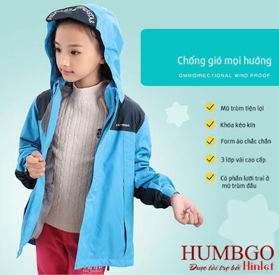Áo khoác trẻ em cao cấp HUMBGO