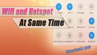 Wifi and Hotspot at same time