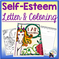Self-Esteem Letter and Coloring Sheets