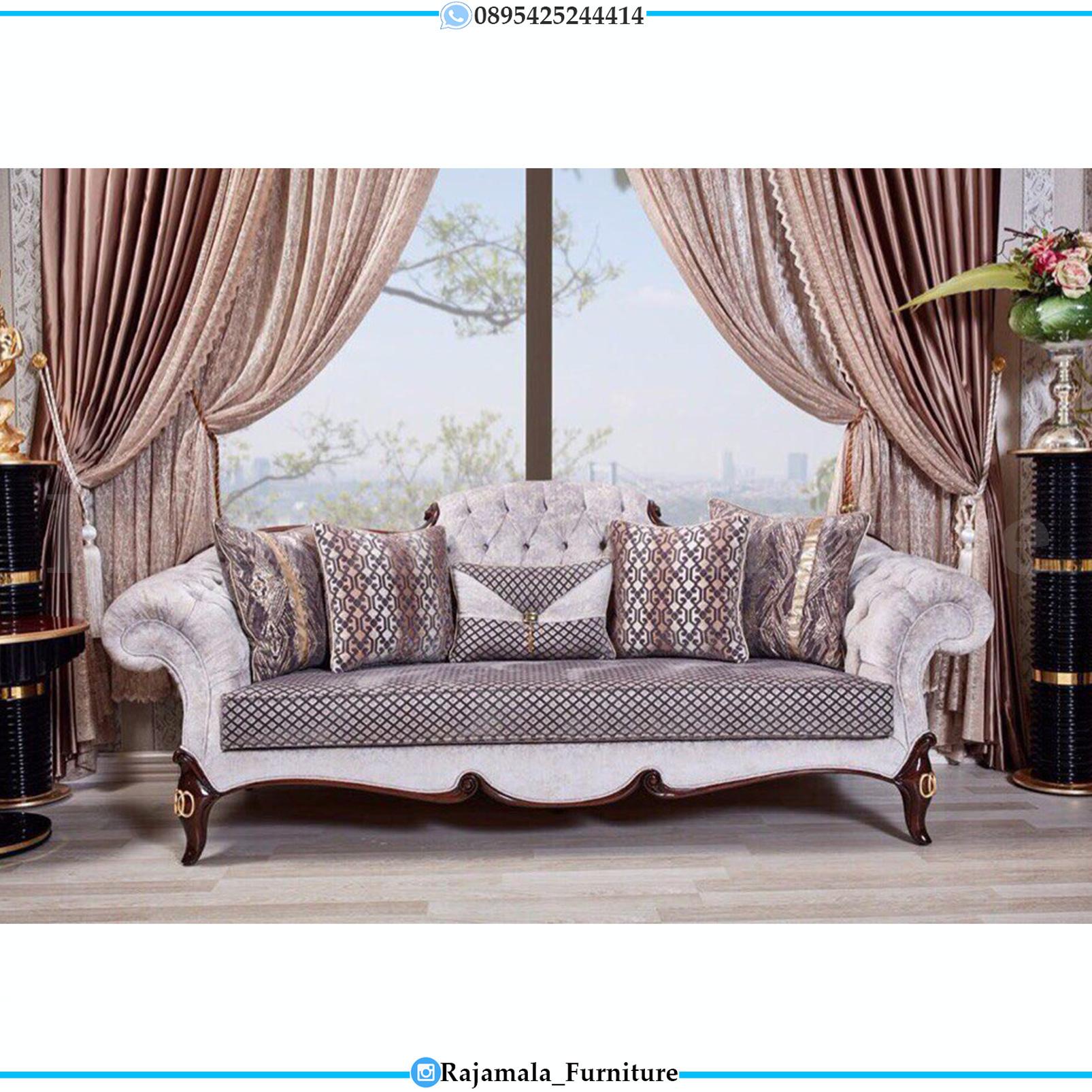 New Set Sofa Tamu Minimalis Jati Natural Classic Luxury RM-0155