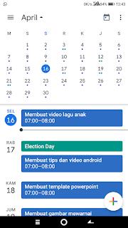 Cara membuat pengingat menggunakan Kalender di Android