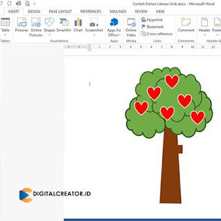 cara-mudah-membuat-pohon-literasi-digital-di-microft-office-word