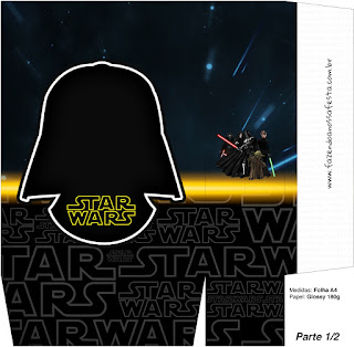 Cajas para Imprimir Gratis de Star Wars.