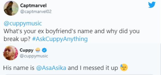 DJ Cuppy Reveals She Messed Up Her Relationship With Ex-Boyfriend Asa Asika #Arewapublisize