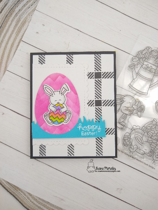 Hoppy Easter by Diane features Hop into Spring, Mountain, Plaid, Framework, and Land Borders by Newton's Nook Designs; #newtonsnook