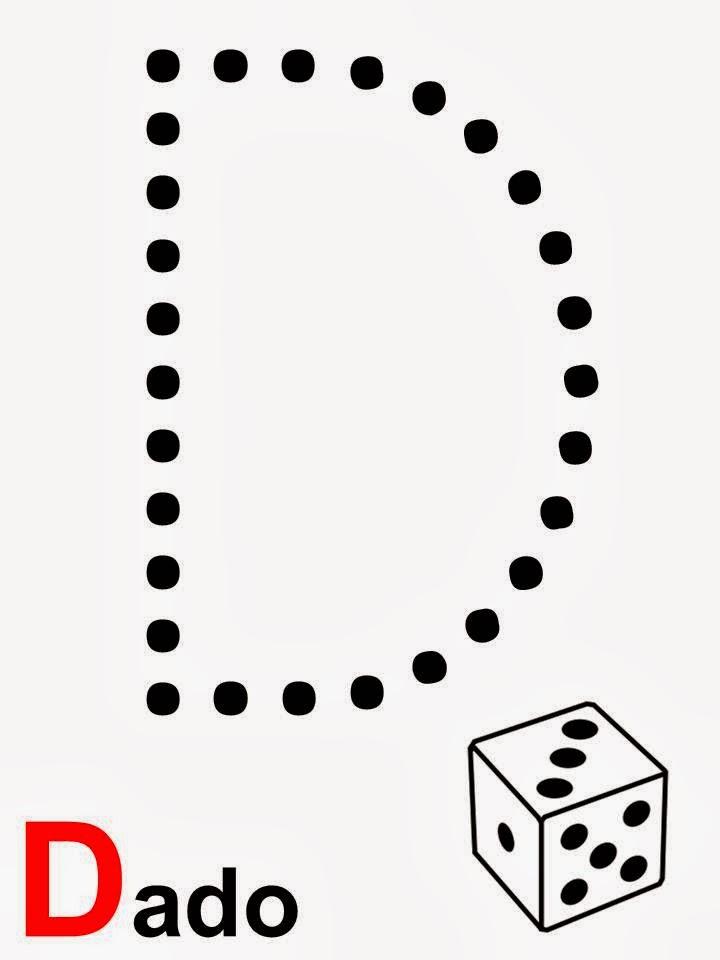 Alfabeto letra D dado
