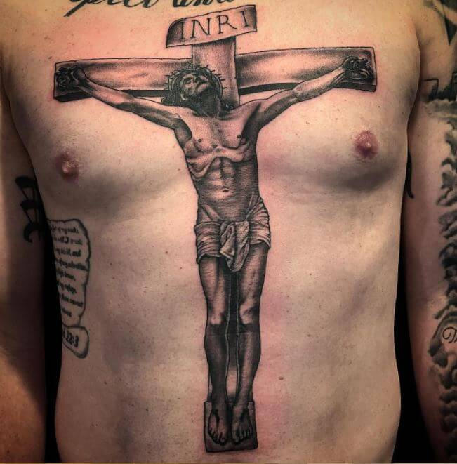 Christian chest piece Tattoos