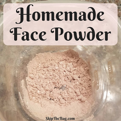 two ingredient, easy face powder