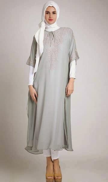 Contoh baju gamis hamil muslim terbaik