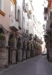 Porticoes line the historic main street through the centre of Cava
